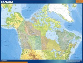 canada framed maps