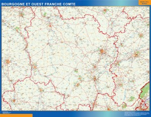 carte magnetique bourgogne franche comte