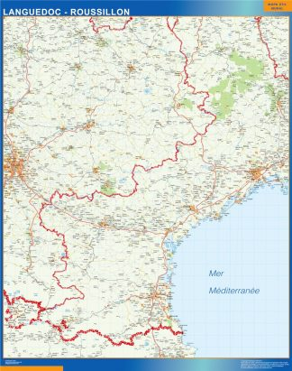 carte magnetique languedoc roussillon