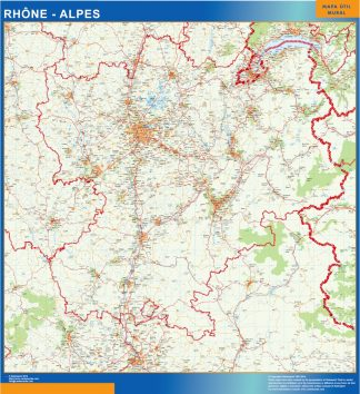 carte magnetique rhone alpes