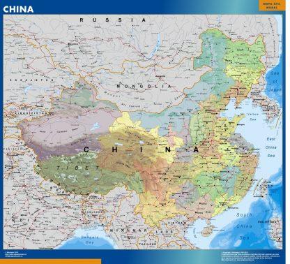 china framed maps