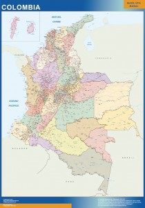 colombia framed maps