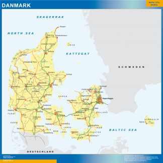 denmark vinyl sticker maps