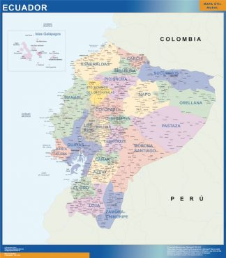 ecuador vinyl sticker maps