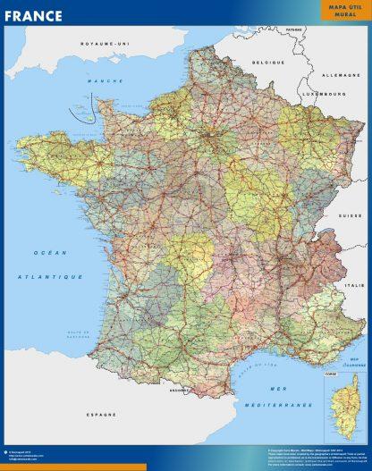france framed maps