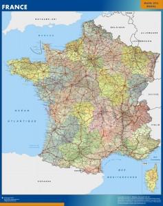france vinyl sticker maps