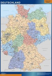 germany framed maps