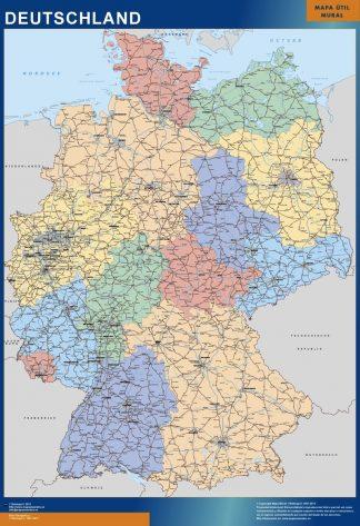 germany vinyl sticker maps