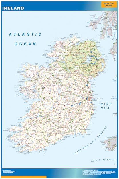 ireland vinyl sticker maps