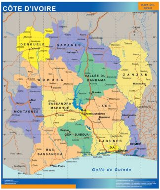 ivory coast framed maps