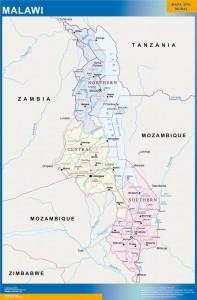 malawi vinyl sticker maps
