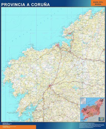 mapa provincia a coruna magnetico