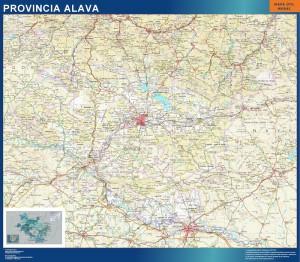 mapa provincia alava magnetico