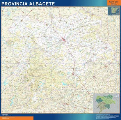 mapa provincia albacete magnetico