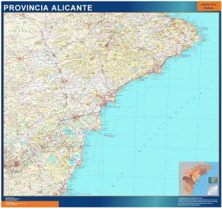 mapa provincia alicante magnetico