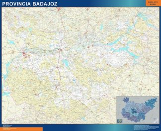 mapa provincia badajoz magnetico