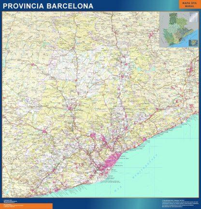mapa provincia barcelona magnetico