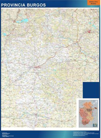 mapa provincia burgos magnetico