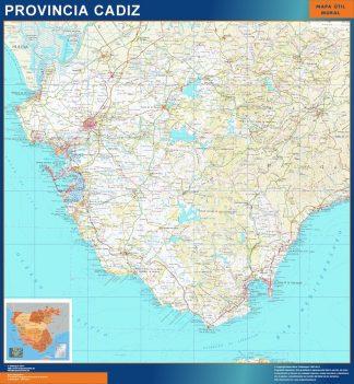 mapa provincia cadiz magnetico