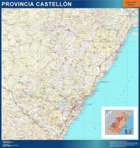 mapa provincia castellon magnetico