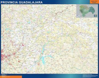 mapa provincia guadalajara magnetico