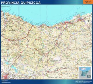 mapa provincia guipuzcoa magnetico