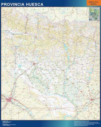 mapa provincia huesca magnetico