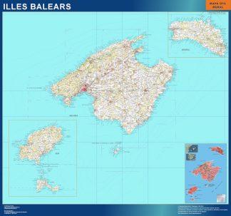 mapa provincia islas baleares magnetico