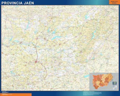 mapa provincia jaen magnetico