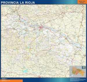 mapa provincia la rioja magnetico
