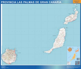 mapa provincia las Palmas gran canaria magnetico