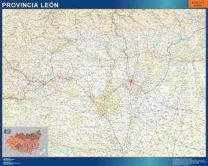 mapa provincia leon magnetico