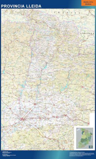 mapa provincia lleida magnetico