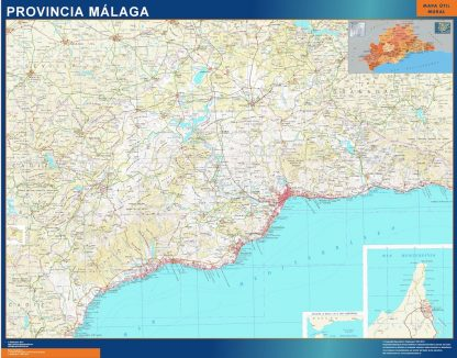 mapa provincia malaga magnetico