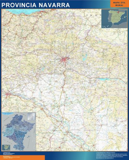 mapa provincia navarra magnetico