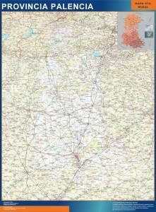 mapa provincia palencia magnetico