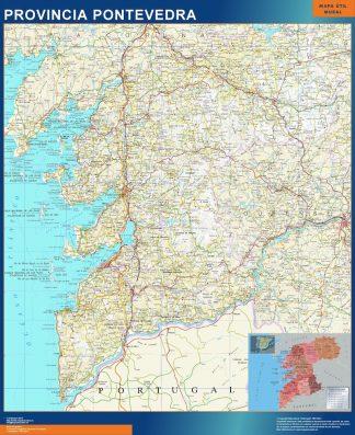 mapa provincia pontevedra magnetico