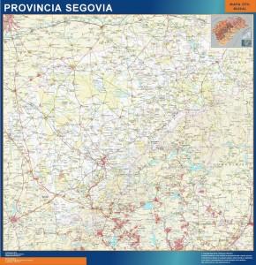 mapa provincia segovia magnetico