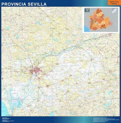 mapa provincia sevilla magnetico