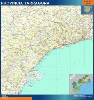 mapa provincia tarragona magnetico