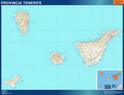 mapa provincia tenerife magnetico