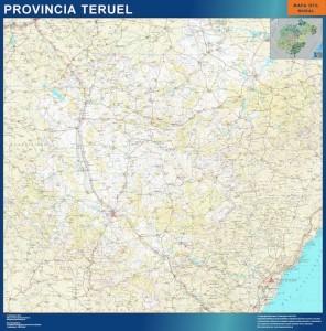 mapa provincia teruel magnetico