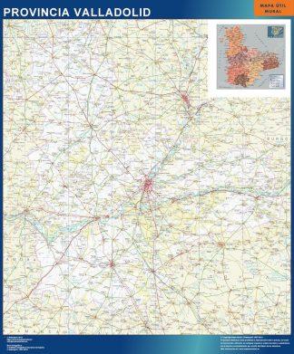 mapa provincia valladolid magnetico