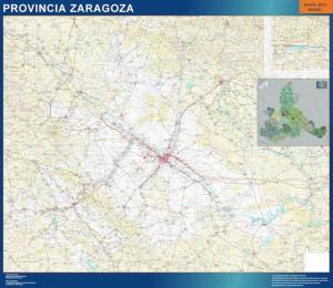 mapa provincia zaragoza magnetico