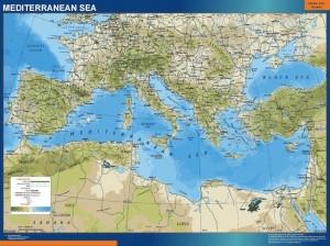 mediterranean framed map