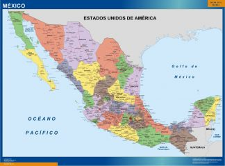 mexico vinyl sticker maps