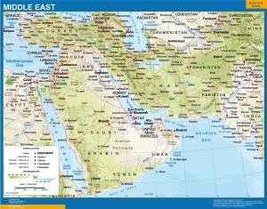 middle east framed map