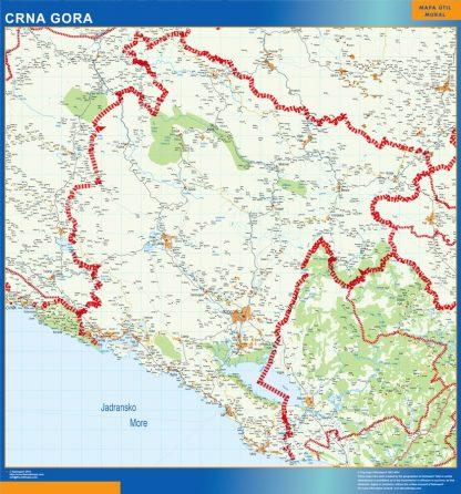montenegro framed maps
