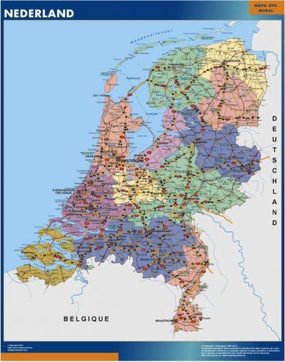 netherlands vinyl sticker maps