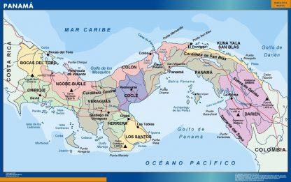 panama framed maps